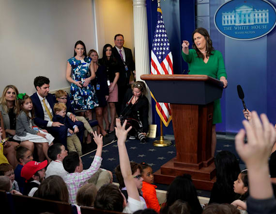 Child visiting WH asks tough question on Comey