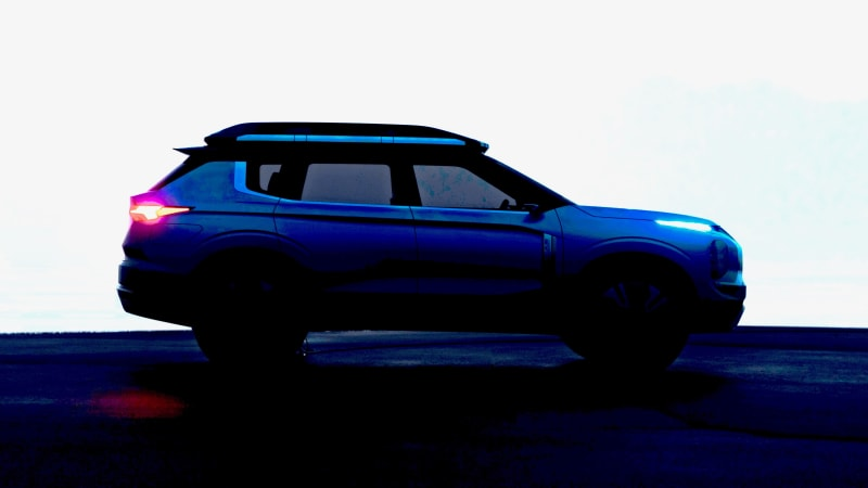 Mitsubishi electric crossover concept partly revealed in teaser