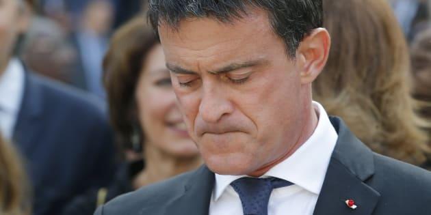 """Né à Barcelone, Manuel Valls se dit """"bouleversé"""" par l'attentat des Ramblas / En photo, Manuel Valls le 5 juillet 2017 aux obsèques de Simone Veil"""
