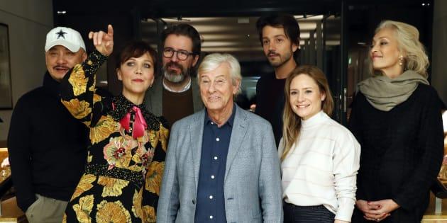 Paul Verhoeven (centro), aclamado este ano com o filme-provocação 'Elle', preside o júri internacional da Berlinale.