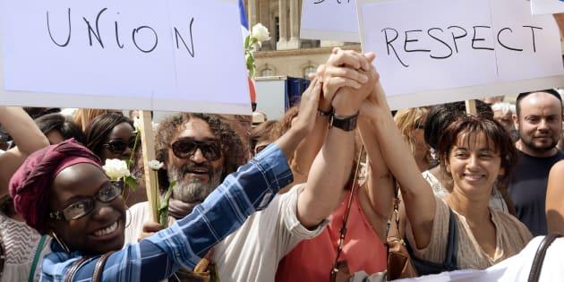 """Nous sommes tous l'""""Arabe"""" de quelqu'un. AFP PHOTO / PIERRE ANDRIEU / AFP PHOTO / PIERRE ANDRIEU"""