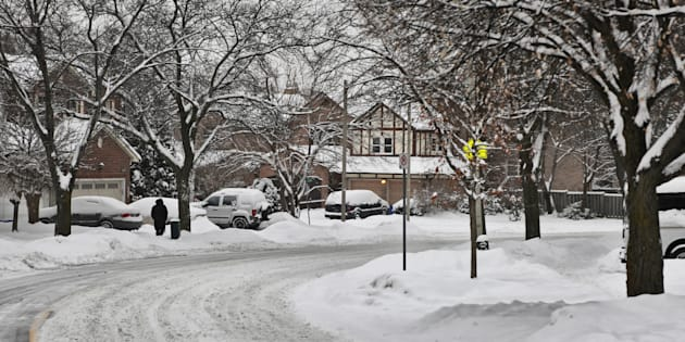 Another snowy day left an additional 5-8 cm of snow in Toronto, Ontario, Canada, on Feb. 10, 2018.