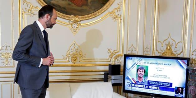 Edouard Philippe lors de l'annonce de son gouvernement.    REUTERS/Charles Platiau