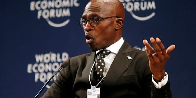 South Africa's Finance Minister Malusi Gigaba speaks at the World Economic Forum on Africa 2017 meeting in Durban, South Africa, May 4, 2017. REUTERS/Rogan Ward