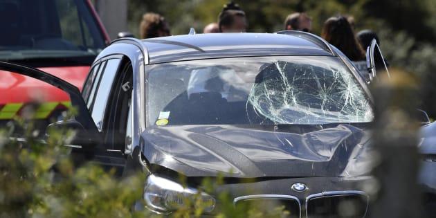 La BMW recherchée puis interceptée sur l'A16 par les forces de l'ordre.