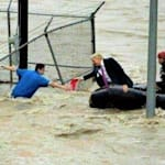 Fake Photo Of Trump 'Rescuing' Flood Victims Goes