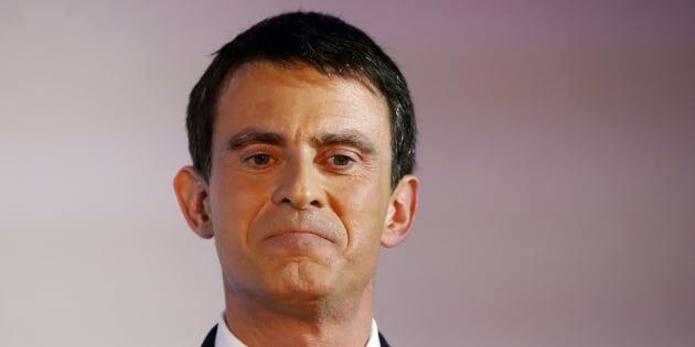 Manuel Valls, après le premier tour de la primaire de la gauche, dimanche 22 janvier.  REUTERS/Charles Platiau