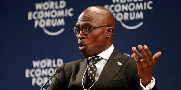 South Africa's Finance Minister Malusi Gigaba speaks at the World Economic Forum on Africa 2017 meeting in Durban, South Africa, May 4, 2017.