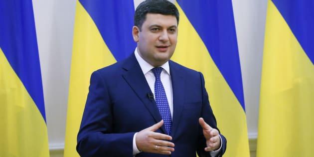 Le premier ministre ukrainien Volodymyr Groysman.
