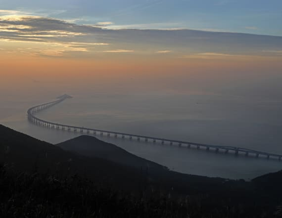 World's longest sea-crossing bridge set to open