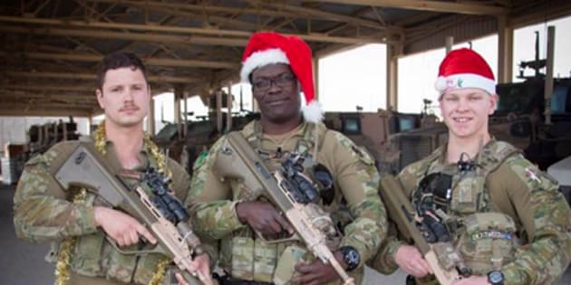 Australian troops have sent Christmas messages home to loved ones.