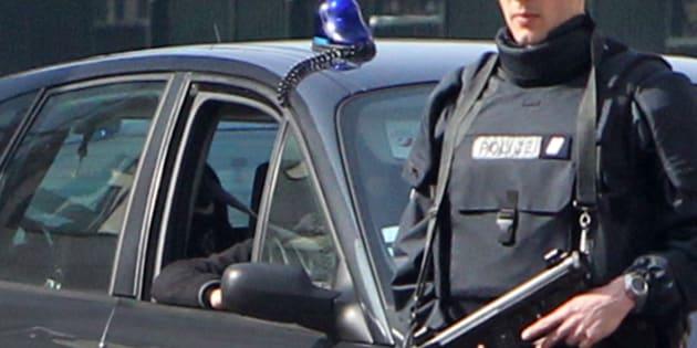 Abdelkader Merah arrive dans les locaux de la sous-direction antiterroriste, le 24 mars 2012.