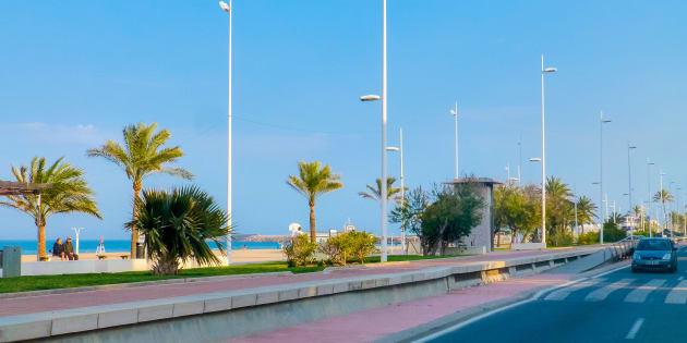 Imagen de la playa de Gandía, Valencia.