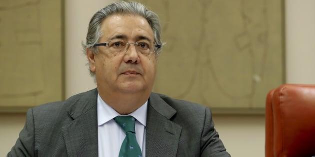 Juan Ignacio Zoido, durante su comparecencia de hoy.