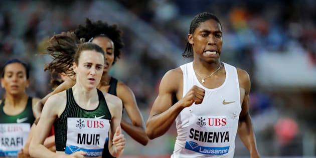 Athletics - Diamond League - Pontaise Stadium, Lausanne, Switzerland - July 5, 2018   South Africa's Caster Semenya in action during the Women's 1500m   REUTERS/Denis Balibouse