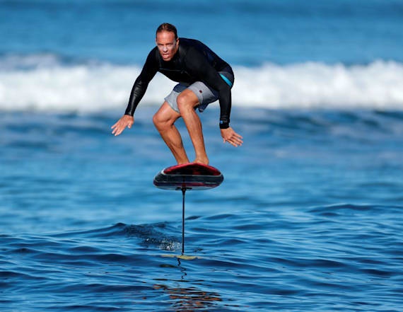 'Surf's up' takes on new meaning for foilboarders