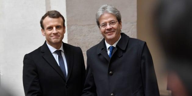 Macron a Roma: al lavoro con Gentiloni sul