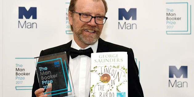 George Saunders, author of 'Lincoln in the Bardo', after winning the Man Booker Prize for Fiction 2017 in London, October 17, 2017.