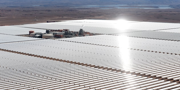 The Ouarzazate Solar Power Station in Morocco, one of the world's largest.