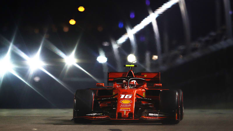 Ferrari's Charles Leclerc takes third straight pole at Singapore GP