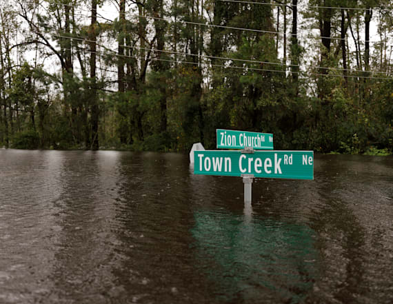 Pregnant woman rescued from rising N.C. floodwaters