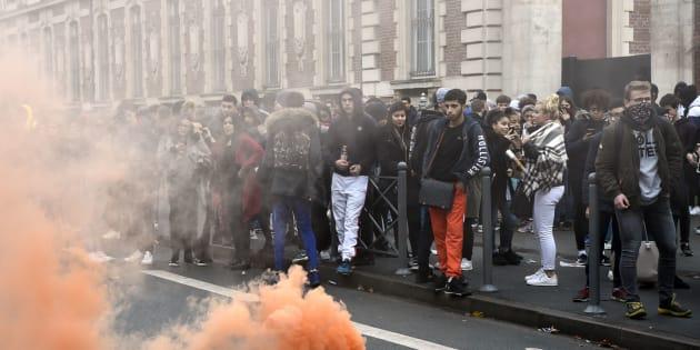 Le blocage du lycée Montebello de Lille, le 7 décembre dernier.