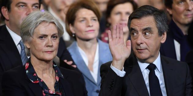 Penelope et François Fillon le 29 janvier à Paris.