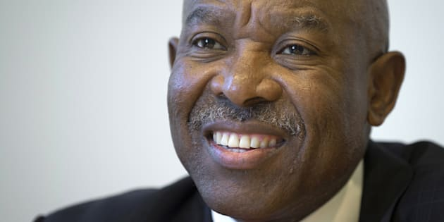Lesetja Kganyago, Governor of the Reserve Bank of South Africa, poses for a photo in the Manhattan borough of New York October 6, 2015. Kganyago said on Tuesday the economy, while weak, will not go into recession this year and that expectations inflation will rise above its target range in 2016 are unlikely to draw a monetary policy response.   REUTERS/Carlo Allegri