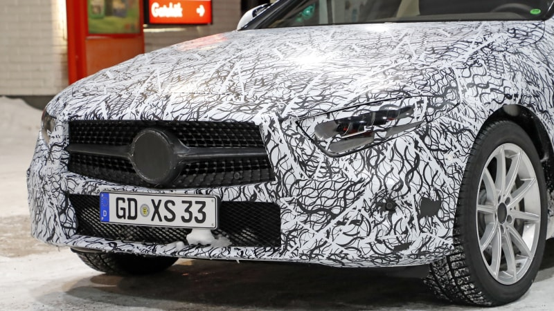 Spy Photos Mercedes Benz Cls In Light Camouflage Autoblog