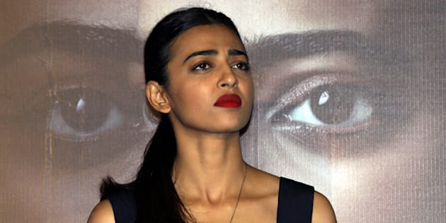 Indian Bollywood actress Radhika Apte poses during the trailer launch of the  psychological thriller film Phobia directed by Pawan Kripalani in Mumbai late April 25, 2016. / AFP / STR        (Photo credit should read STR/AFP/Getty Images)