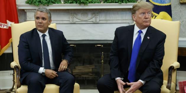 Ivan Duque se encontró con Donald Trump en el Salón Oval.