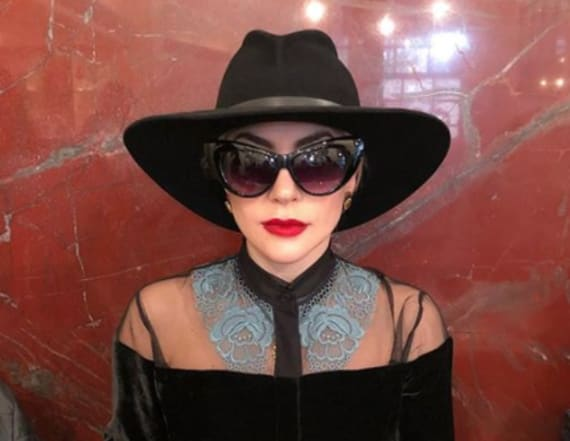 Lady Gaga stuns in see-through red look in Italy