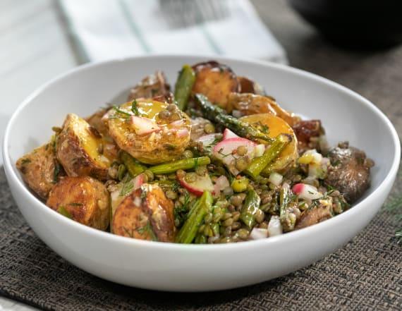Best Bites: Potato salad with lentils & veggies