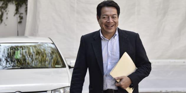 """Mario Delgado aseguró que  no existe un desacuerdo con el Poder Judicial, pues la disputa política está con el PAN, el PRI, PRD y Movimiento Ciudadano, partidos que defienden un """"régimen de excesos y privilegios"""" salariales."""