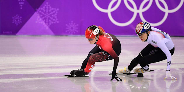 Canada's Kim Boutin picks up bronze in 1500 metre short-track speedskating