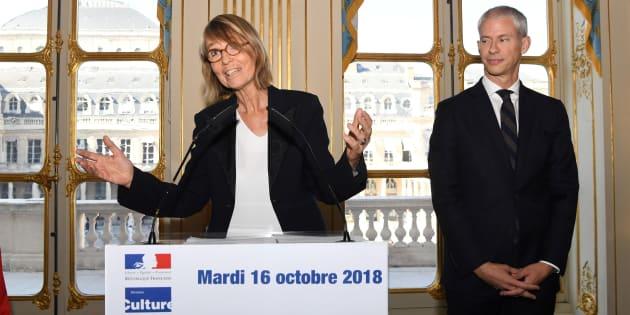 Françoise Nyssen a livré un dernier discours, ce mardi 16 octobre au ministère de la Culture devant son successeur Franck Riester