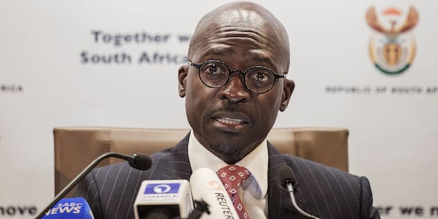 South African newly appointed Finance Minister Malusi Gigaba briefs the Press at the South African government Communication's office on April 1, 2017, in Pretoria, South Africa.