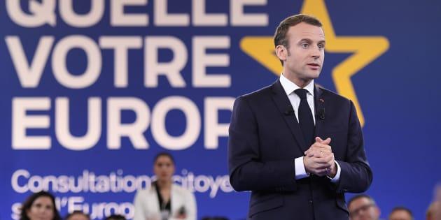 Emmanuel Macron à Epinal le 17 avril 2018.