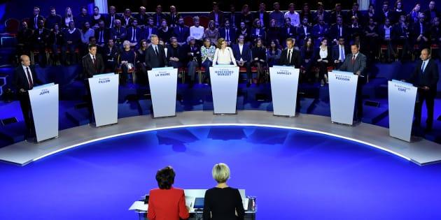 Le second débat télévisé de la primaire de la droite, le 3 novembre 2016 salle Wagram à Paris.