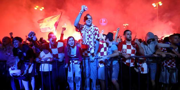 Croatie-Angleterre à la Coupe du monde: Liesse exceptionnelle à Zagreb après la qualification des Croates pour la finale.