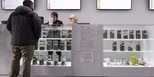 Various marijuana products are pictured at Eden marijuana dispensary in Vancouver, Thursday, Jan. 30, 2018.