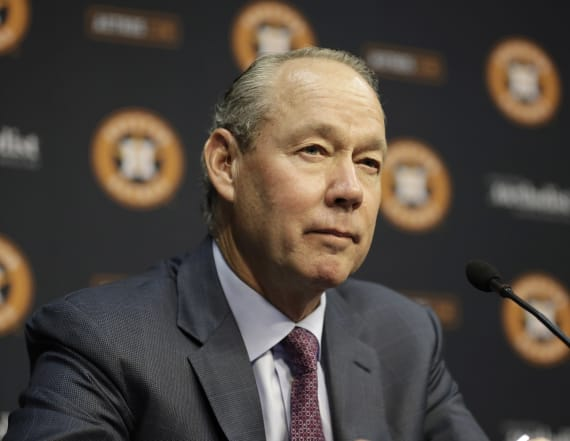 Police protect Astros owner from talking to media