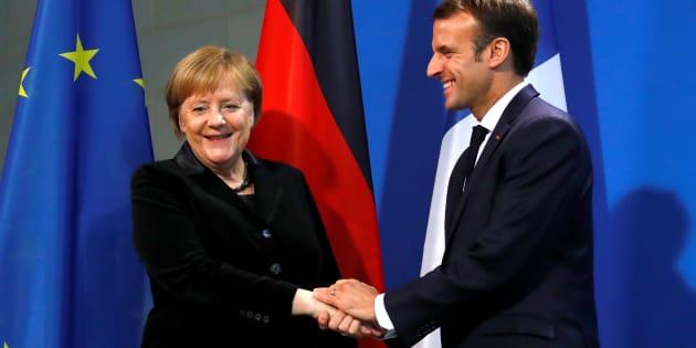 Angela Merkel et Emmanuel Macron à Berlin, le 18 novembre.