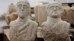 Des bustes romains découverts par une promeneuse en