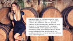 Clara Morgane répond avec humour au descendant de la maison Charles de