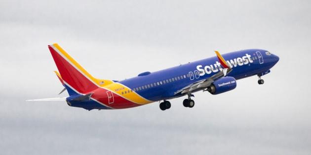 Birmingham, AL, USA - March 26, 2018: Southwest Airlines departing Birmingham, AL