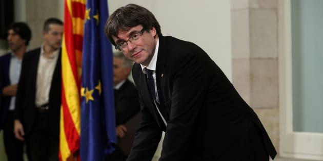 Puigdemont propose un délai de deux mois pour négocier l'indépendance de la Catalogne