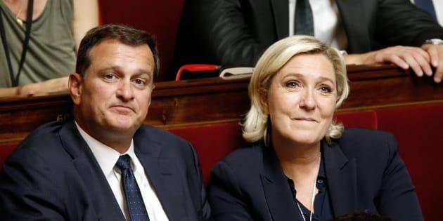 Marine Le Pen et Louis Aliot à l'Assemblée nationale le 12 juin.