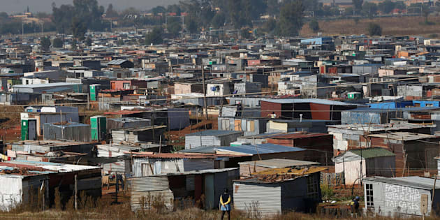 An informal settlement near Lenasia in south Johannesburg, South Africa.