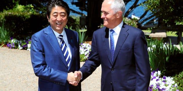 Japanese Prime Minister Shinzo Abe and Australian Prime Minister Malcom Turnbull met at Kirribilli House last week.